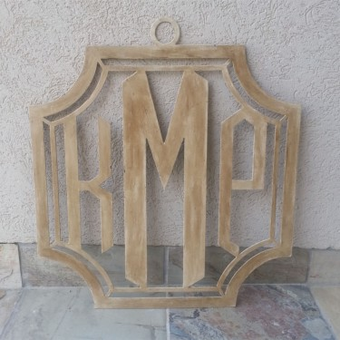 Crest Metal Monogram Home Decor For The Home