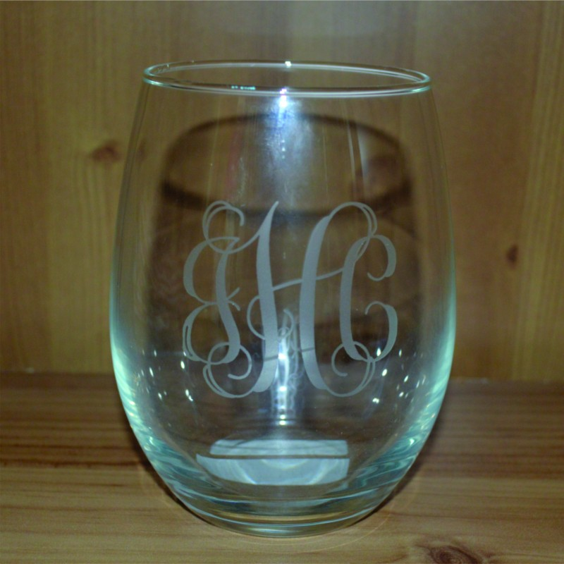 21 Oz Personalized Stemless Wine Glasses Set Of 4